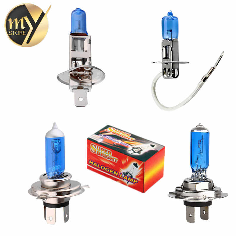Super Bright H1 H3 H4 H7 24V 100W White Fog Lights Halogen Bulbs High Power Headlight Lamp Car Light Source auto parking