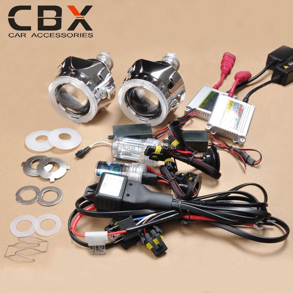 2 5 Inches Mini Hid Bi Xenon Projector Lens  Xenon Bulb