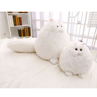 Cute White Cat Baby Plush Toy 30 50 Cm Big Pillow Dolls For Children Toy High