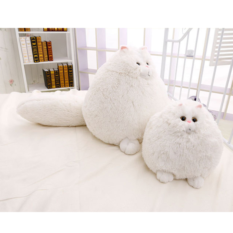 Fat Pet Cats Persian Cat Plush Toy  30/50 cm Pembroke Pillow Plush Toys High Quality Soft Stuffed Brinquedos Kids Gift cat toy pet toy ball track