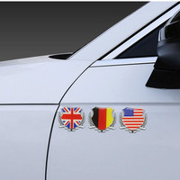 car sticker motorcycle 3D Metal Germany Italy France England United States Flag Auto Car Door Window Chrome Emblem Badge Body Decal Motorcycle Sticker (4)