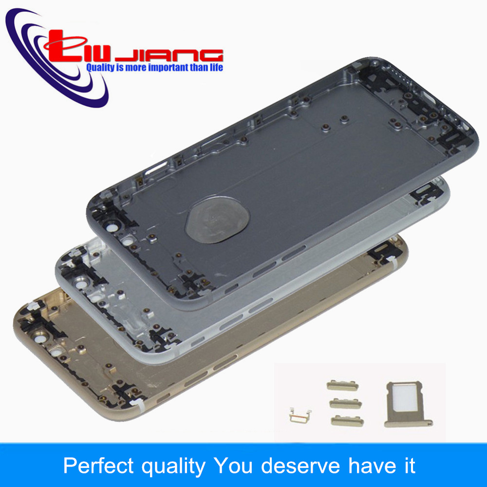 Liujiang New Housing Metal Back Cover For iphone 6 6 plus Battery Cover Housing Side Button