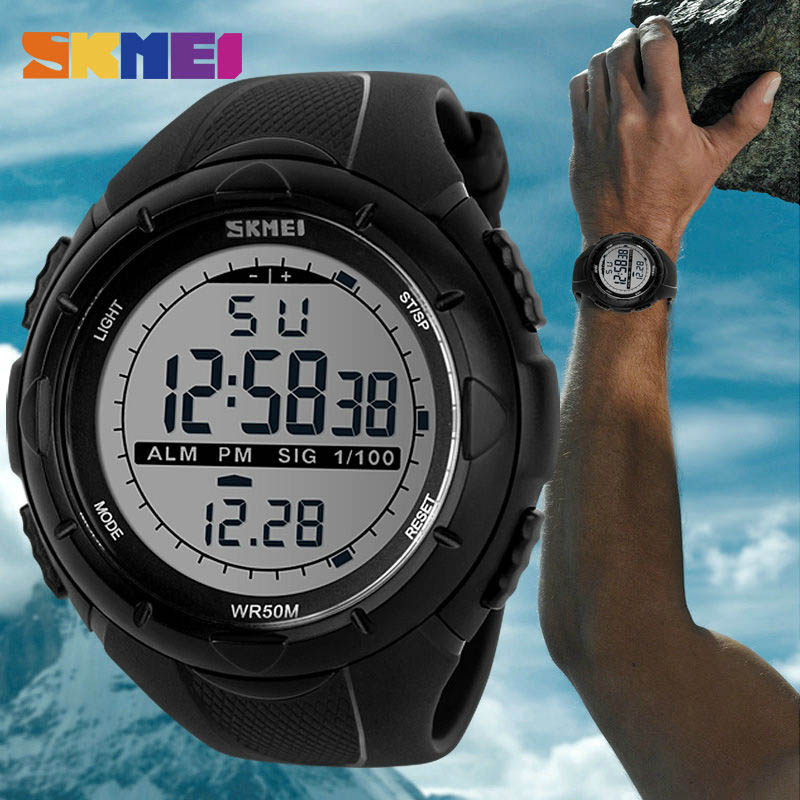 SKMEI Sport Watch Men Outdoor Top Bracelet for Man Clock Chrono LED Display Men Wrist Watches Fashion New relogio masculino 1025 Браслет