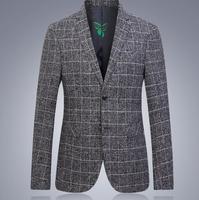 Men S Suits Fall New Youth Men Plaid Suit Korean Slim Jackets Mens Casual Small Suit