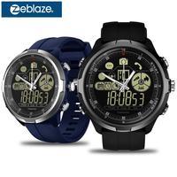 IP67/50M Water Resistant ZEBLAZE VIBE 4 HYBRID Rugged Smartwatch 1.24inch FSTN & Mechanical Hands Sapphire Glass Smart Watch