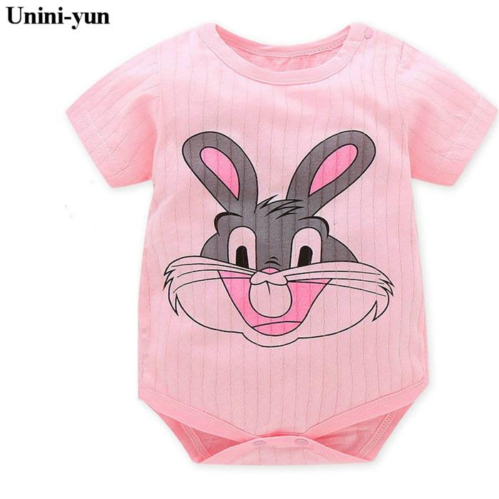 hotCartoon Monkey Short Sleeve Baby Romper Baby Girl One Piece Cute Clothes Jumpsuits Roupas De Bebe Infantil Baby Clothing Kids