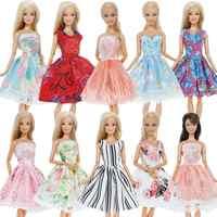5 pièces/lot à la main Mini robe Style mixte tenue de fête de mariage jupe dentelle robe vêtements pour Barbie poupée accessoires jouet enfants