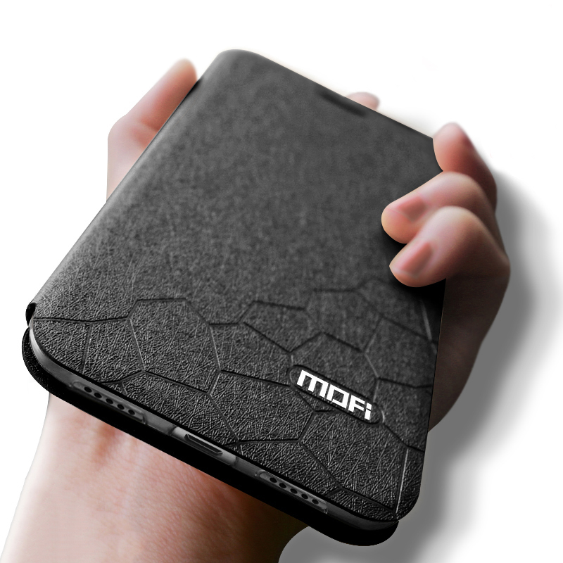 Mofi Original Leder Flip Fall Abdeckung Für Xiaomi Redmi Hinweis 5 7 6 Pro 4X 6A S2 Plus 360 Stoßfest luxus Funda Schwarz Blau buch