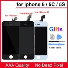 Лучшие Качество AAA ЖК-дисплей Экран для iPhone 5 5S 5C ЖК-дисплей Дисплей Сенсорный экран планшета Ассамблеи Замена для iPhone 6, 6 S ЖК-дисплей Экран