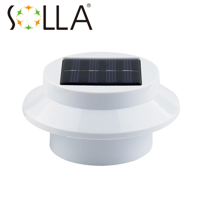 Shenzhen manufacturer Outdoor Solar Powered 3 LED Cool White/Warm White Light Fence Gutter ...