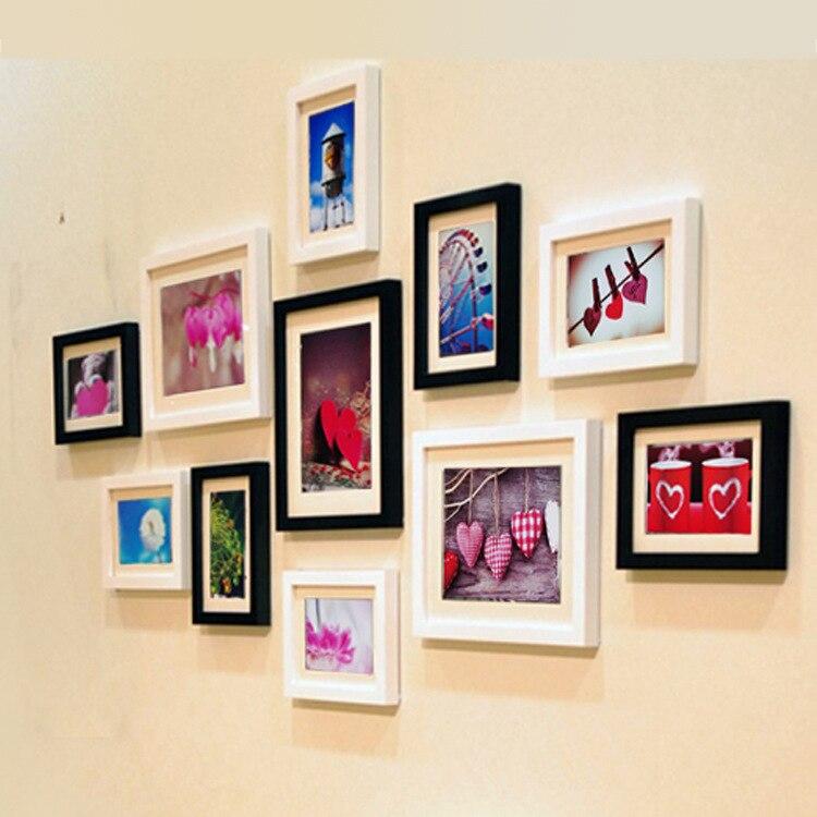 Criativo Mão Madeira Maciça Retangular Quadro 11 Quadro Da Foto Da Parede Combinação Criativa de Parede Sofá Fundo Da Parede Emoldurado Arte Quadros