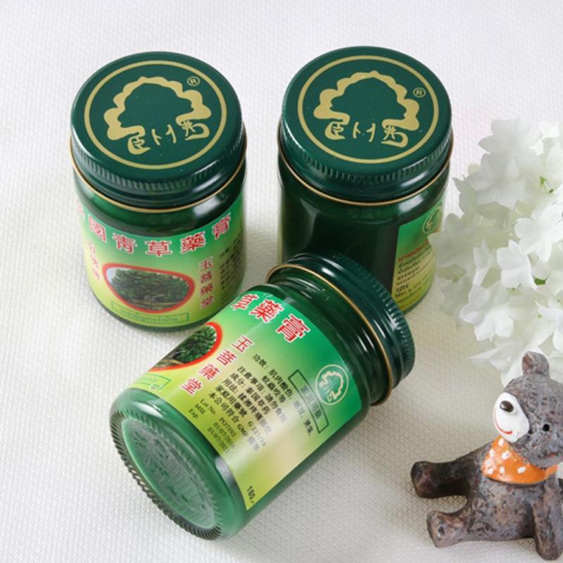3 pz 50g/Bottiglia Thai A Base di Erbe Balsamo Per Le Labbra Muscolare Dolore Anti-zanzara Prurito di Aggiornamento Mal di Testa Fredda Zanzara Comune dolore Unguento L4
