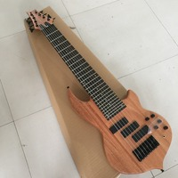Factory Custom 24 frets 8 strings neck thru body Electric Bass Guitar with 3 pickups,rosewood fretsboard,can be customized