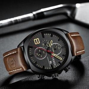 Image 4 - Nieuwe heren Horloges Top Brand Luxe CURREN Nieuwe Militaire Lederen Quartz Horloge Mannen Sport Horloge Relogio Masculino Mannelijke Uur