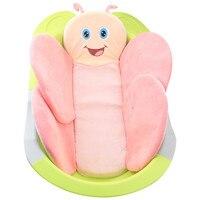 Taşınabilir Bebek Banyo Ped Bebek Kussen Yastık Mat Banyo Destek Yastık Bebek Banyo Yastık Bebek Güvenlik Karikatür Kelebek koltuk pedi