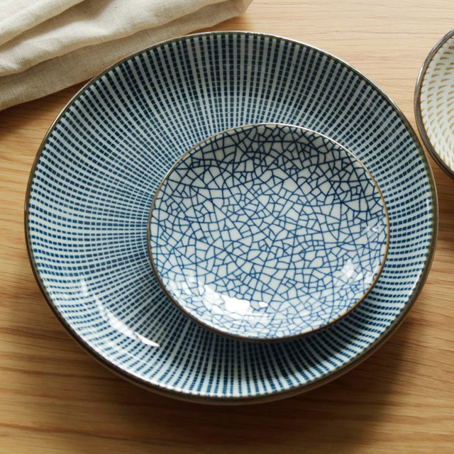 Japan Style Ceramic Dishes u0026 Plates Desserts Under Glazed Round Plate Sauce Small Dish Brown Blue & Japan Style Ceramic Dishes u0026 Plates Desserts Under Glazed Round ...