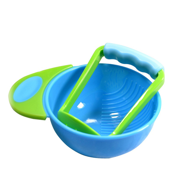 Baby Food Mills Solid Feeding Dishes Kid baby Learning Dishes Grinding Bowl Baby Handmade Grinding Fruit Supplement