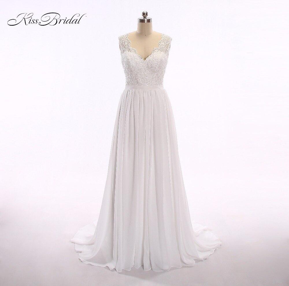 Aliexpress Com Buy Vestido De Noiva 2017 A Line Beach: 2017 Vintage Beach A Line Appliques Lace Wedding Dresses V