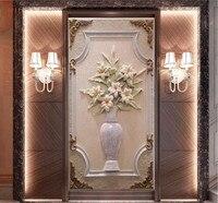 Beibehang 3d HD Européenne classique pierre vase effet revêtement Home Decor Moderne Mur papier Peinture Pour Salon 3D papier peint