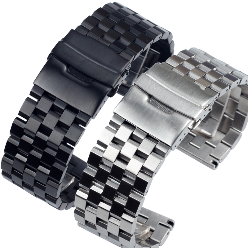 Solid Stainless Steel Metal <font><b>Watch</b></font> Bracelets 18MM <font><b>20MM</b></font> 22MM 24MM 26MM For Men's <font><b>Watch</b></font> <font><b>bands</b></font> PAM441 Gear Sport S2 S3 <font><b>Watch</b></font> Straps image