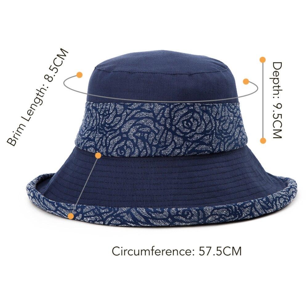 22c36ba22d300 SIGGI Women Sun Hat Summer Bucket chapeu feminino praia chapeau femme Girl  linen cotton UV upf 50 cap foldable Packable 89037-in Sun Hats from Apparel  ...