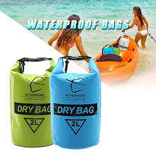 HITORHIKE 2L Professzionális vízálló száraz zacskó kemping Kajakozás Kajakozás Rafting Kajak-kenu Úszás táskák Stuff Könnyű