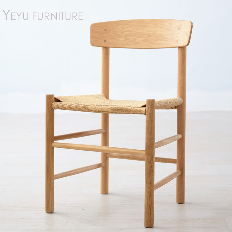 Minimalist Modern Design Solid Oak Wood J39 Dining Chair, Fashion Design  Popular Solid Wooden Chair, Dining Room Furniture 1PC