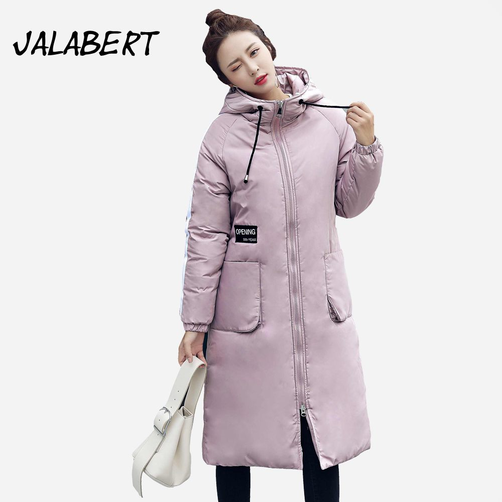 2017 New winter women long Slim Hooded cotton coat Female fashion printing pattern jacket Back Hem Bifurcation warm Parkas 2017 winter new cotton coat women slim long hooded thick jacket female fashion warm big fur collar solid hem bifurcation parkas