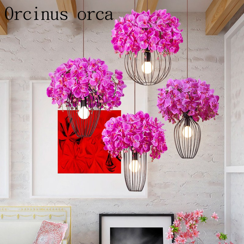 American idyllic Cherry Blossom chandelier living room bedroom balcony modern simple personalized flower Chandelier