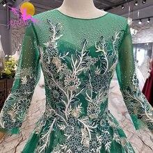AIJINGYU Polka Dot Queen Gown With Sleeve Wedding Dress