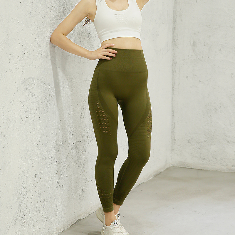 High Waist Yoga Pants Women Fitness Energy Seamless Leggings Soft Nylon Tummy Control Workout Gym Tights Sport Leggings Women