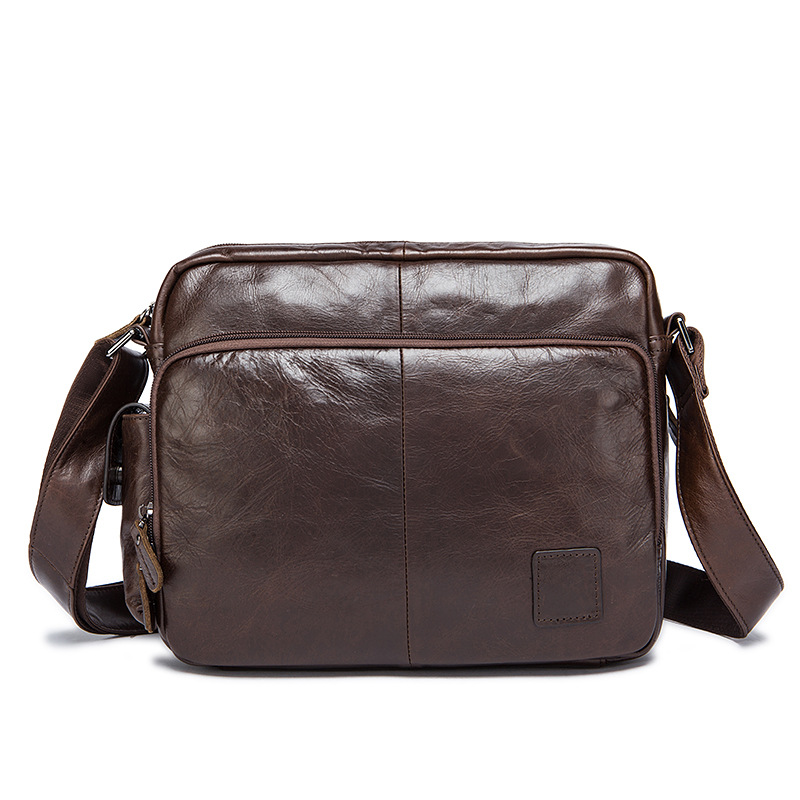 Retro New Genuine Leather Multi-function Casual Bag Men's Shoulder Messenger Bag For Ipad Tool Kit Organizer Coffee Color kitogfcp333bogfog20 value kit coffee pro multi function toaster oven with multi use pan ogfog20 and coffee pro home office 12 cup coffee maker ogfcp333b