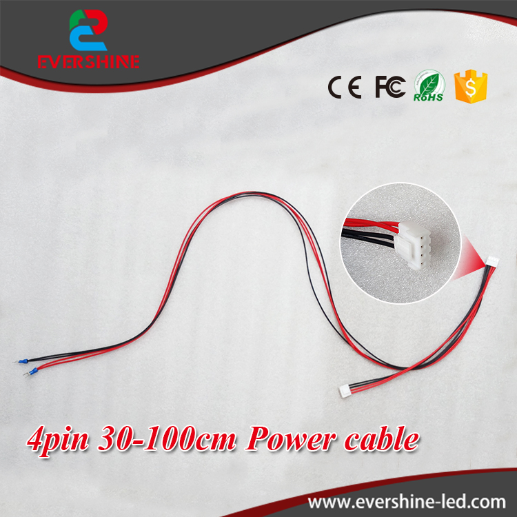 20pcs/lot Indoor LED Display Module Power Supply Cable 4 Pin 30-100cm Wire
