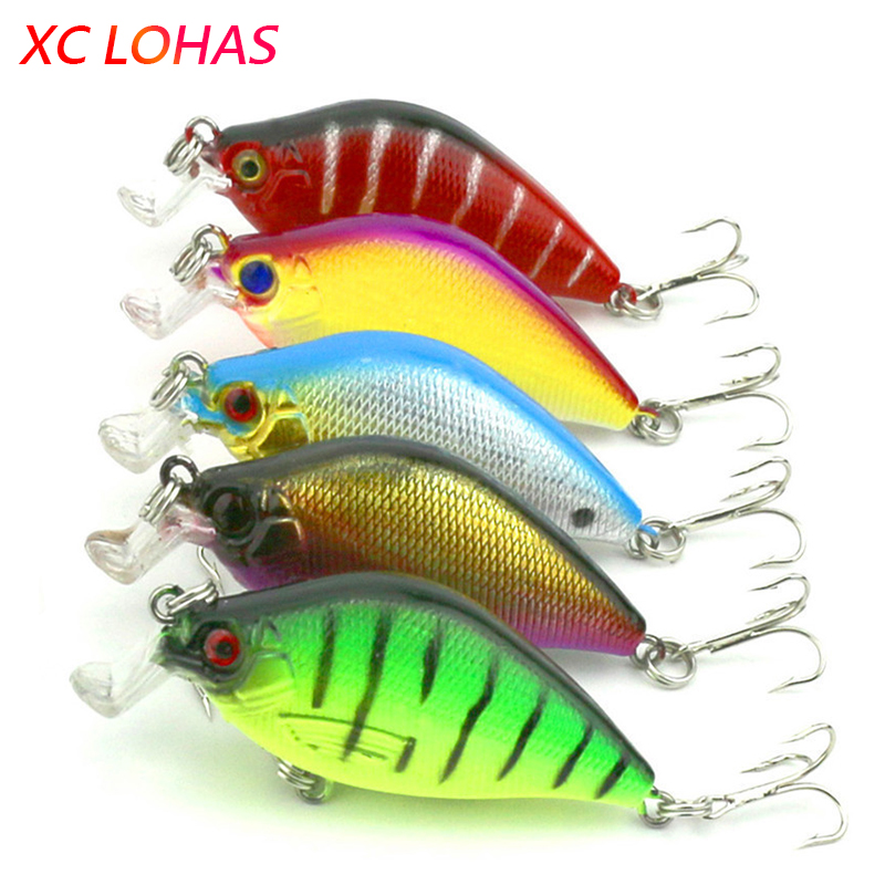6.5cm 8.4g Artificial Bass Fishing Lures 3d Fish Eye Hard Plastic Laser Crank Bait Reflective Fake Lure Baits CB015 1 piece 8 colors artificial fishing lure fake bait with hooks 3d fish eye high fishing lures for sea fishing