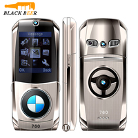 Mosthink W760 Flip Mobile Phone Dual SIM Cards 1.77 Mini Metal Body Car style Camera Single Core Button Russian Keyboard Phone