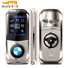 """Mosthink W760 di Vibrazione Del Telefono Mobile Dual SIM CARD 1.77 """"Mini Corpo In Metallo Auto macchina fotografica di Stile Single Core Pulsante Tastiera Russa telefono"""