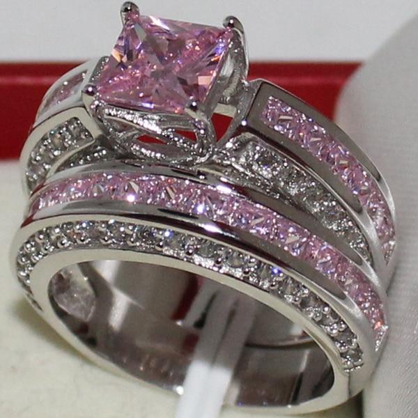 MMDGEM Eternity Engagement Ladys 925 Sterling Silver