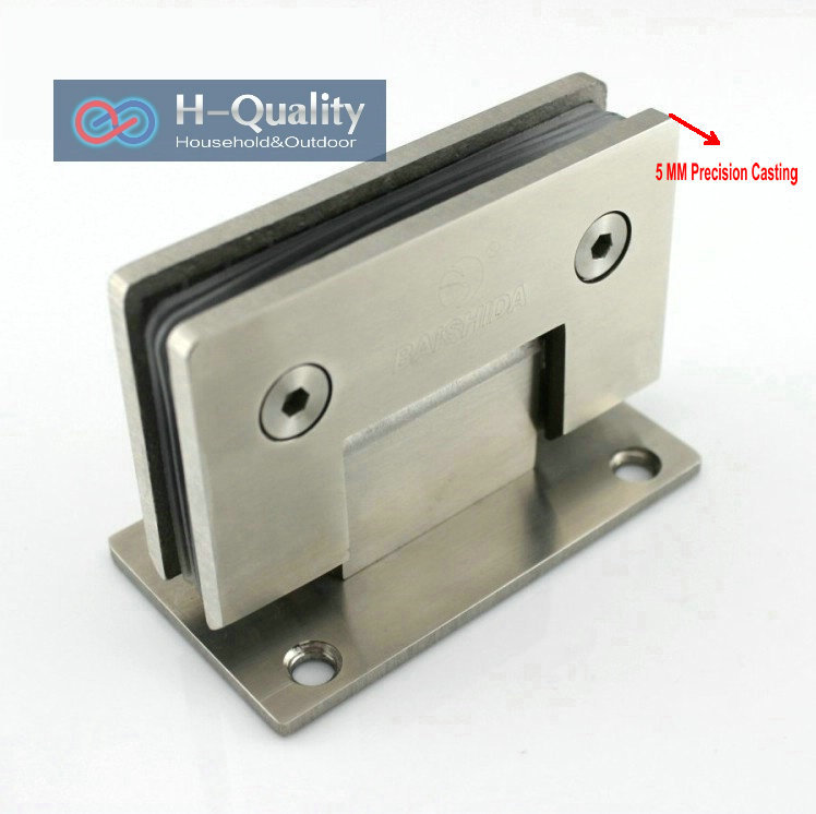 Thicken 90 Degree Precision Casting And Wire Drawing Surface Stainless Steel Glass Clamp, Shower Door Glass Clip, Glass Bracket