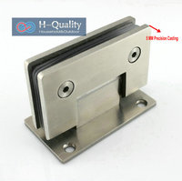 Thicken 90 Degree Precision Casting And Wire Drawing Surface Stainless Steel Glass Clamp Shower Door Glass