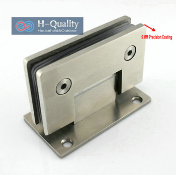 Thicken 90 Degree Precision Casting And Wire Drawing Surface Stainless Steel Glass Clamp, Shower Door Glass Clip, Glass Bracket 90 degree shower door hinge solid copper spring hinges glass to wall fitting glass clamp dc 3041