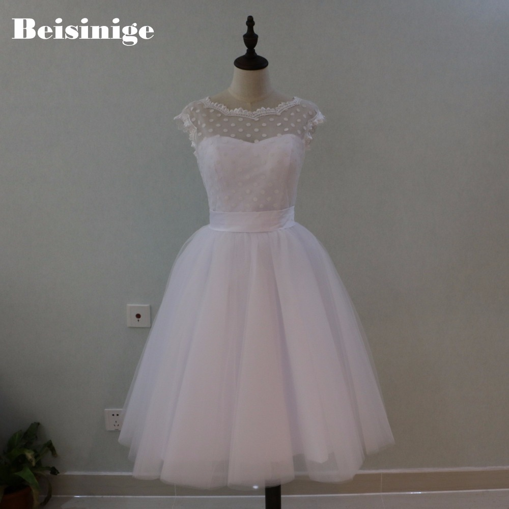 Online Buy Wholesale Style Tea Length Wedding Dress From