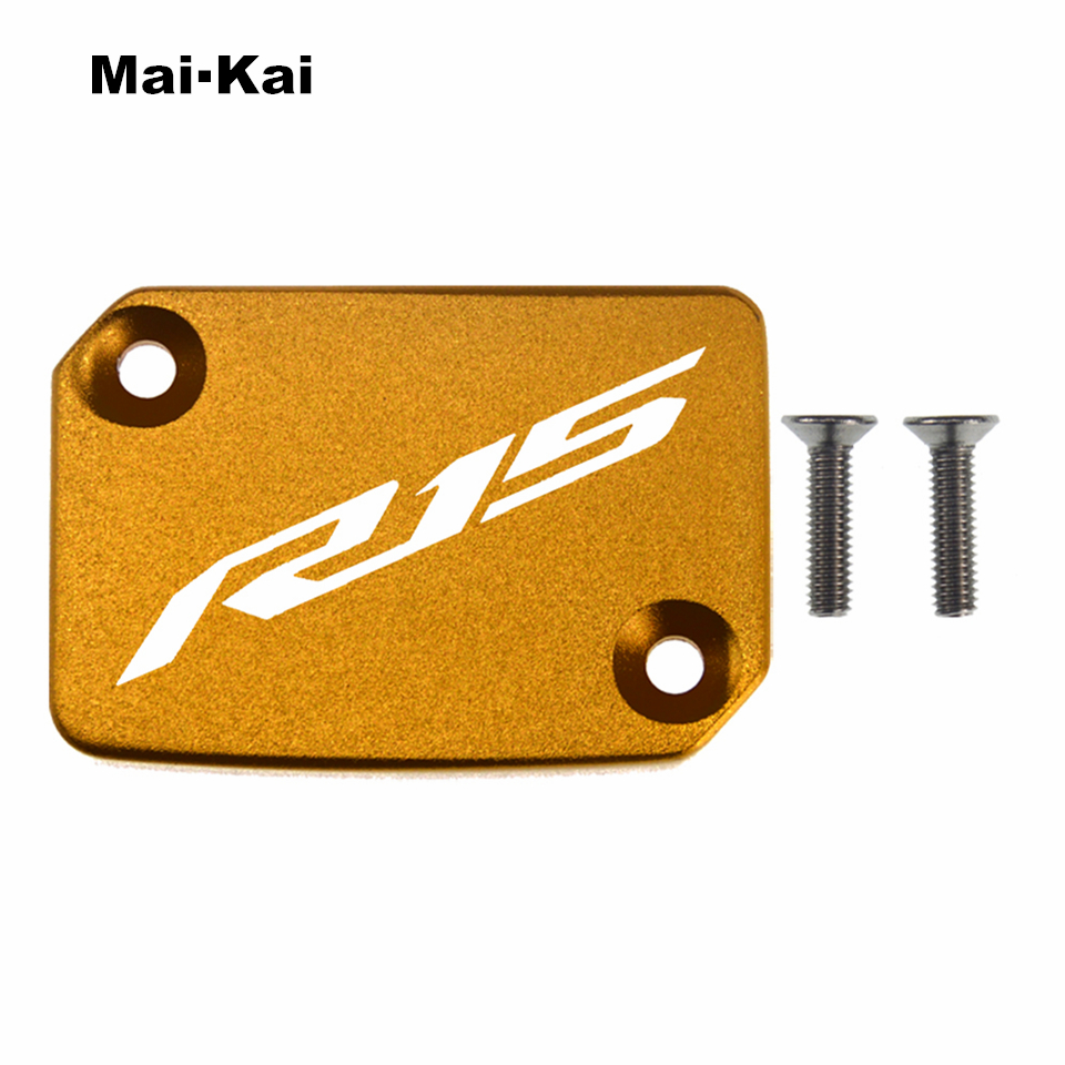 MAIKAI For YAMAHA R15 2018 2019 CNC Aluminum Motorcycle Brake Fluid Fuel Tank Cap Cover in Covers Ornamental Mouldings from Automobiles Motorcycles