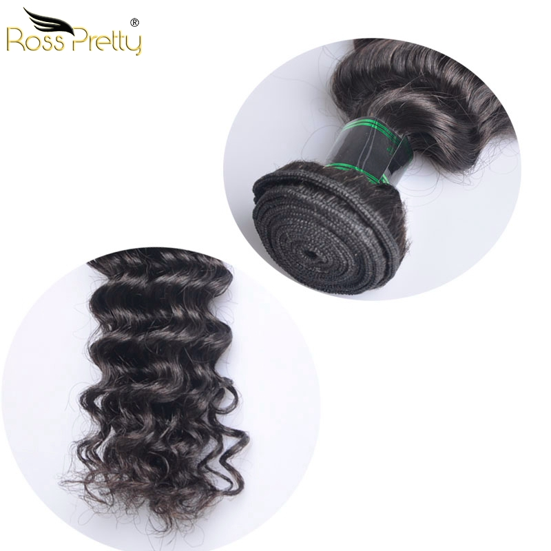 Deep Wave Hair Weft Remy Hair 4pcs Malaysian Hair Extension Wholesale Price Ross Pretty Hair Brand Fast Free ship