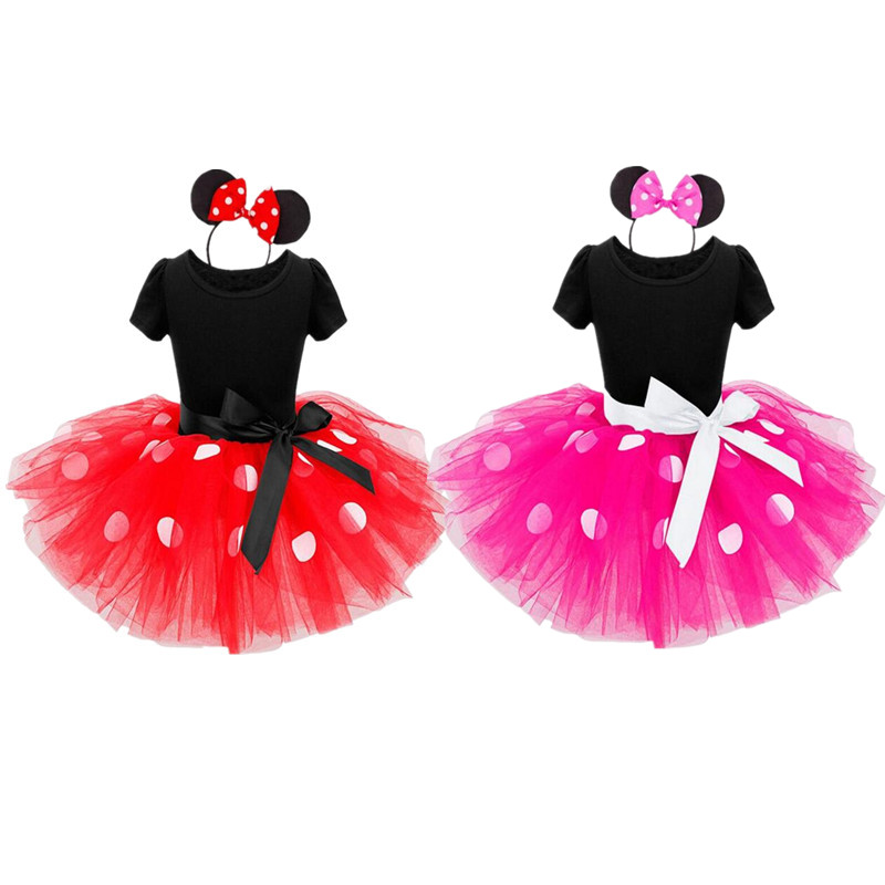 2018 Halloween New kids dress mouse princess cosplay costume infant clothing Polka dot baby clothes birthday girls dress