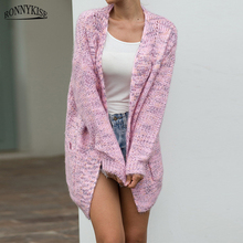 RONNYKISE Autumn and Winter Sweaters Long Sleeve Cardigans Casual Women Fashion Knitted