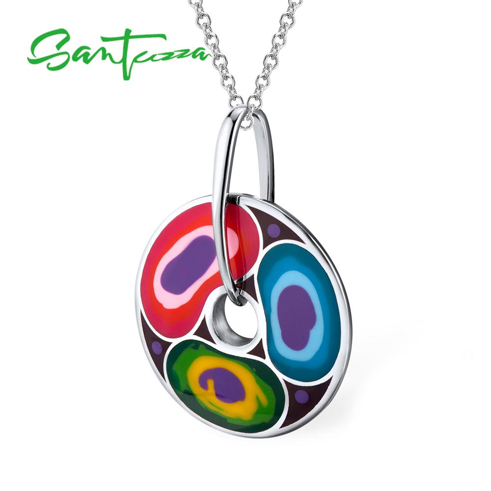 Silver Pendant for Women Colorful Enamel Women Pendant Party Fashion Jewelry HANDMADE женское бикини colloyes 2015 zcbk1405