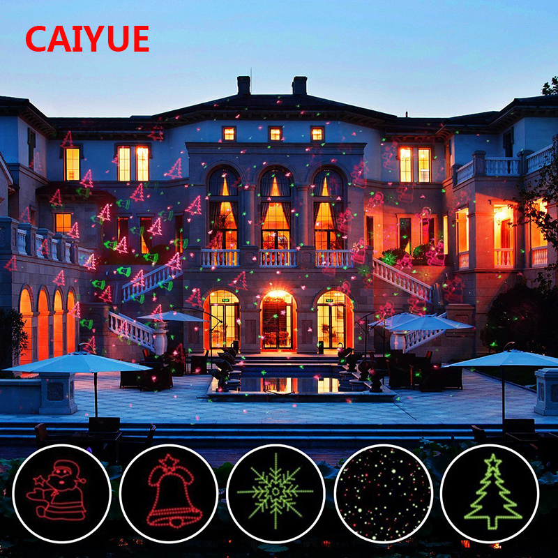 12 Xmas Patterns Christmas Laser Projector RF Remote Red Green Motion Stage Light Waterproof IP65 Outdoor Home Garden Decoration