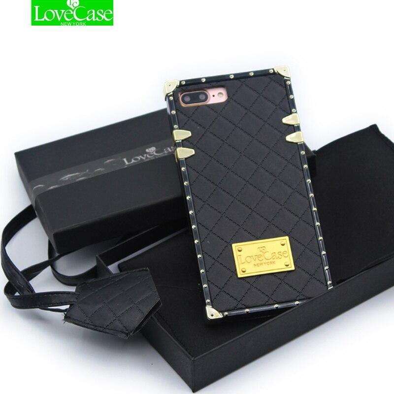LoveCase dernière PU en cuir + TPU téléphone cas de couverture arrière pour l'iphone X 7 8 Plus XS Max top qualité sac de téléphone cas + lanière
