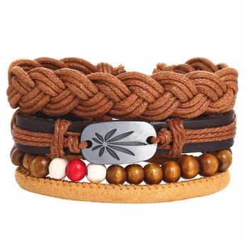 Vintage Multilayer Leather Bracelet for Men Bracelets Jewelry Men Jewelry New Arrivals Metal Color: FDY1303