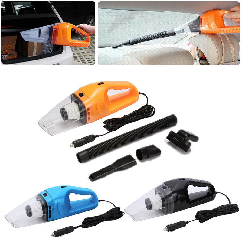 New Car Vacuum 12V 120W Auto Vacuum Cleaner 6 in 1 Handheld Vacuums with 5m Power Cord Ship from Russia